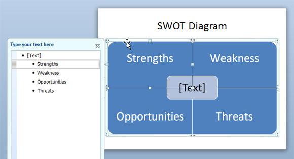 Cara membuat diagram swot dalam powerpoint menggunakan smartart dan atau anda dapat mengubah warna kuadran misalnya untuk mencocokkan warna yang berbeda untuk setiap elemen dalam diagram swot kami akan menunjukkan kepada ccuart Image collections