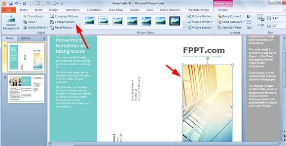 plantillas simple folleto para powerpoint