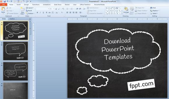 シンプルなパワーポイント黒板プレゼンテーションを作成する方法