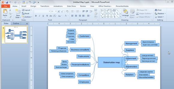 Excel Mind Map Template