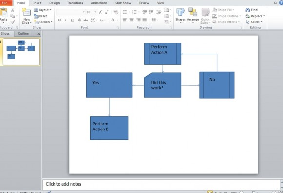 Flow chart template powerpoint 2010