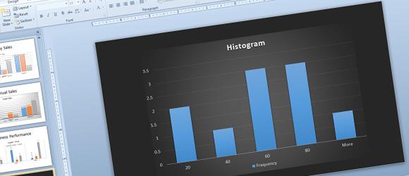Как сделать гистограмм для PowerPoint с помощью Excel