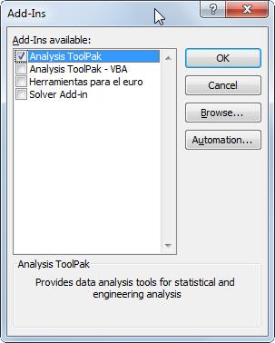 первенствуйте анализ гистограммы ToolPak