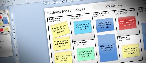 powerpoint 2010のための無料ビジネスモデルキャンバスのテンプレート