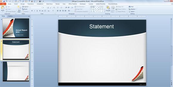 Cara membuat laporan tahunan menggunakan template powerpoint laporan tahunan powerpoint template yang toneelgroepblik Image collections