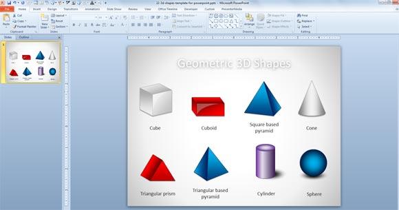 powerpointプレゼンテーションのための無料の3d幾何学図形テンプレート