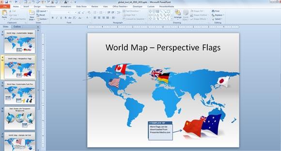 Hacer presentaciones globales animada con plantilla global de plantilla de powerpoint mundial de animacin gumiabroncs Image collections