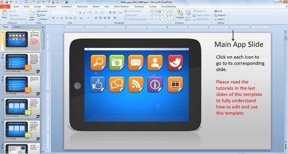 Tutorial do powerpoint usando apresentaes interativas de powerpoint com modelo tablet interativo toneelgroepblik Image collections