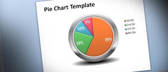 powerpoint 2010のためのクリエイティブ円グラフテンプレート