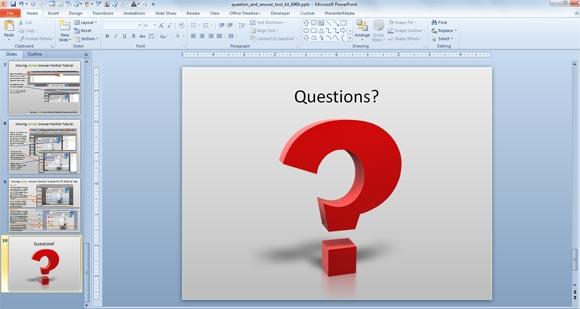Ehrfürchtige Fragen & Antworten Powerpoint-Vorlagen