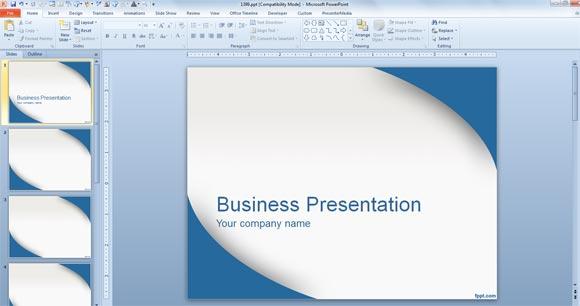 powerpointプレゼンテーションにテンプレートを適用します