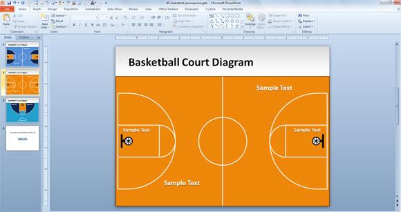 plantilla gratuita de powerpoint cancha de baloncesto. Black Bedroom Furniture Sets. Home Design Ideas