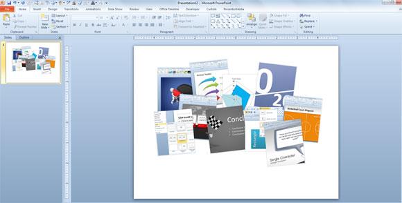 Wie ein Moodboard in Powerpoint zu machen Kostenlose Powerpoint-Vorlage