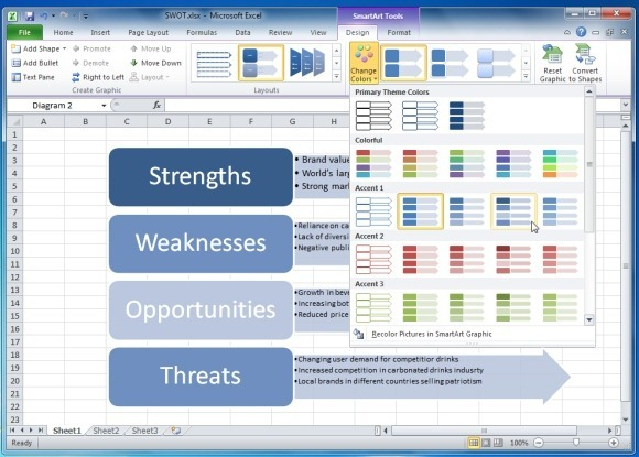 Cara membuat analisis swot a stylize swot analysis in excel ccuart Choice Image