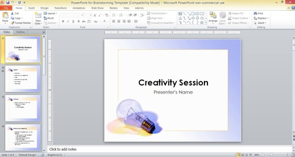 Powerpoint Outline Template