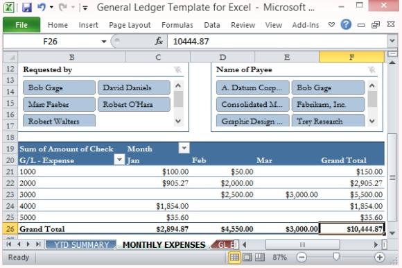 Hauptbuch Vorlage für Excel