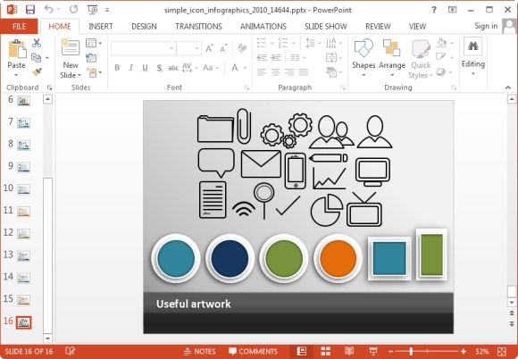 Free infographic icons for powerpoint