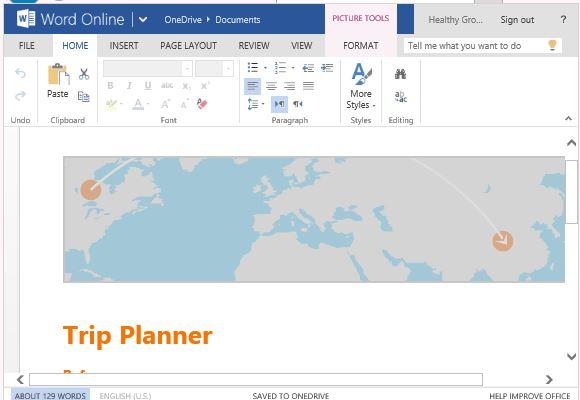 Gratis Trip Planner Vorlage für Word Online
