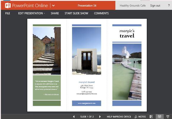 Reisen Broschüre Maker Vorlagen für Powerpoint
