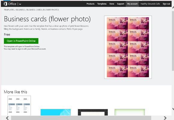 Visitenkarten Maker Vorlage Für Powerpoint