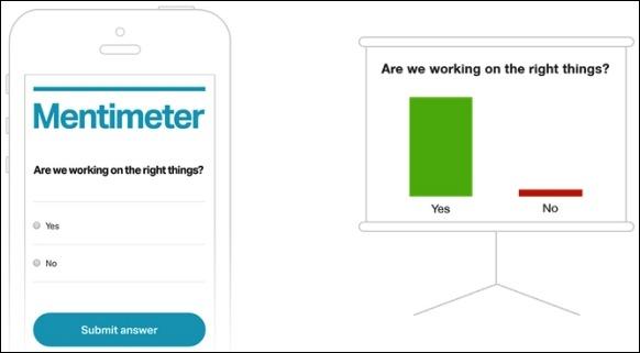 Mentimeter ระบบการตอบสนองผู้ชมฟรี