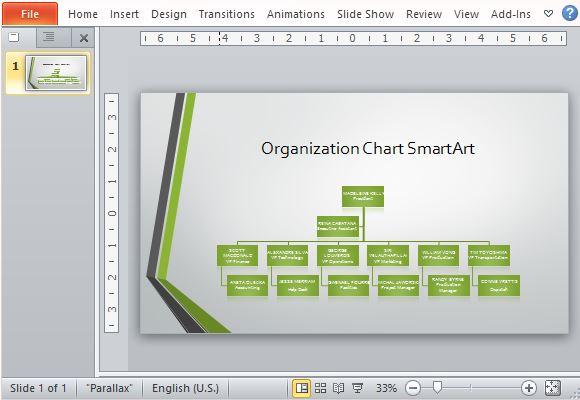 パワーポイントのためにワイドスクリーン組織図テンプレート