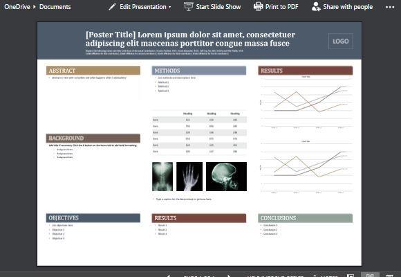 powerpointのための医療のポスターテンプレート