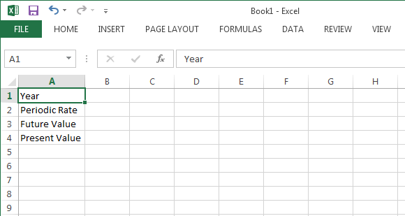 Future Value Excel Template