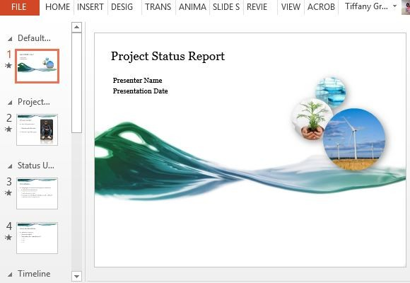 Status Update Template Powerpoint