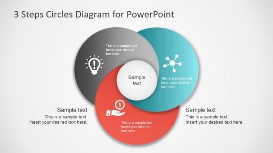 Melhores diagramas circulares e modelos para apresentaes 3 passo circunda diagrama para powerpoint ccuart Images