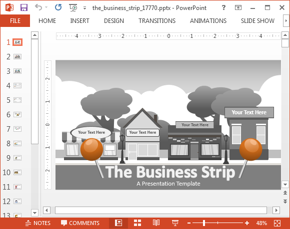 Free Animated PowerPoint Slide Template