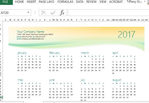 Calendar Templates In Excel