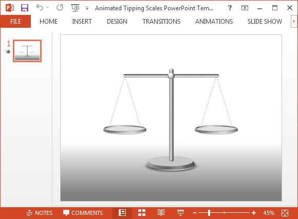 Animierte Tipping Waagen Powerpoint-Vorlage