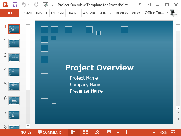 Project Plan Template Powerpoint