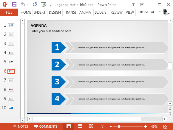 Beste Agenda Slide-Vorlagen für Powerpoint