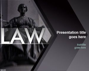 Law Powerpoint-Vorlage