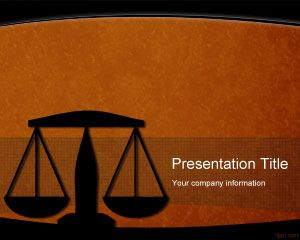 Legal Powerpoint-Vorlage