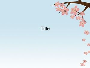 Template Cherry Blossom PowerPoint