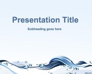 Template Water Conservation PowerPoint