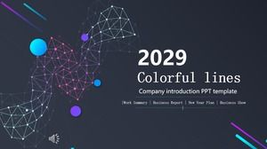 Colorful Urban Style Ppt Template Powerpoint Templates Free Download