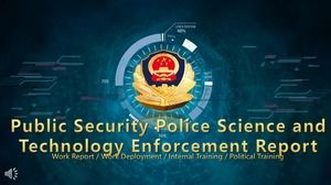 Science and technology wind police police law enforcement report PPT template