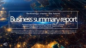 Science and technology business summary report PPT template