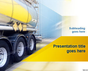 Truck Transport PowerPoint Template