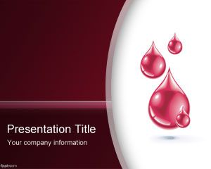 PowerPoint Sangue Template