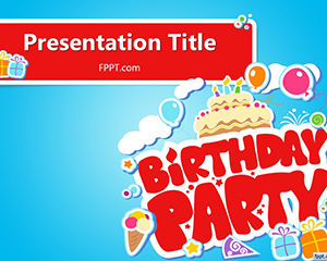 Template gratis Buon compleanno PowerPoint