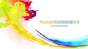 Colorful color ink PPT background picture