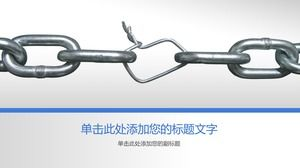 Gray iron chain chain team building PPT background picture