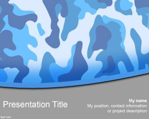 Navy Camo PowerPoint Template