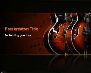 Template Blues Musica PowerPoint