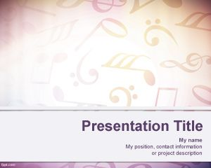 Sheet Music Background per PowerPoint